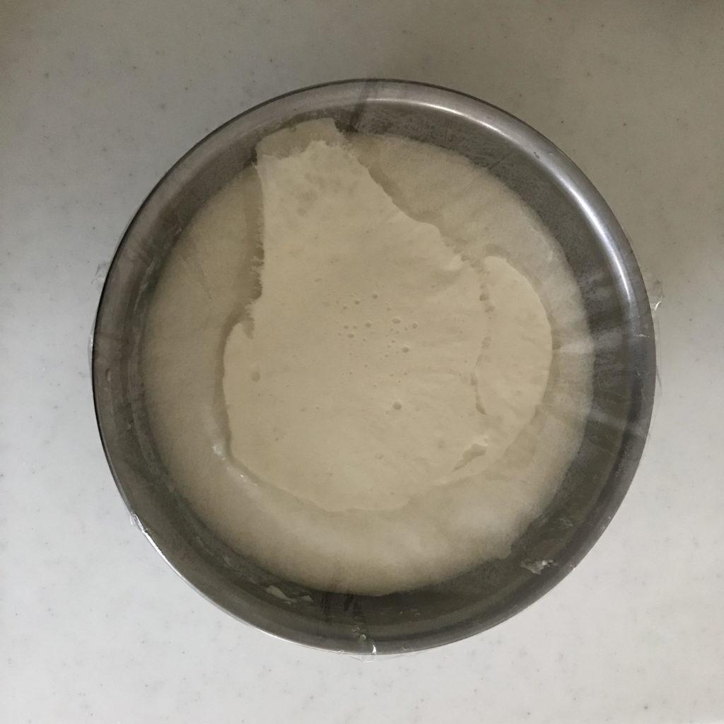 塩パン 一次発酵