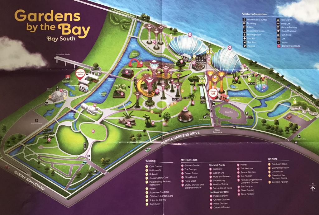 ガーデンズ・バイ・ザ・ベイのマップ
