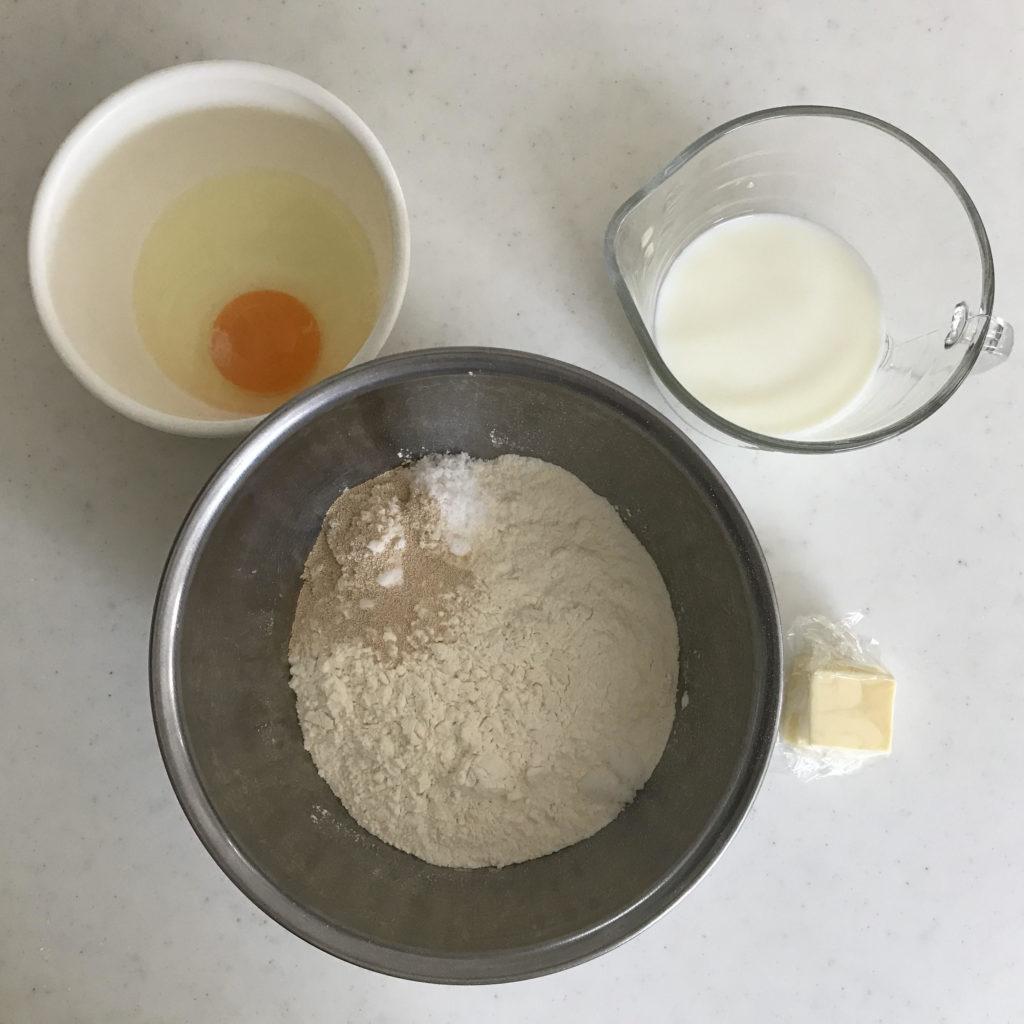 リッチな食パンの材料