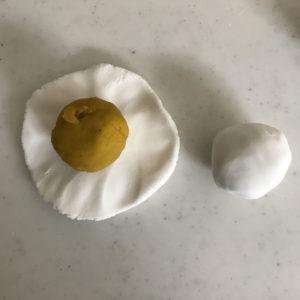 かぼちゃごま団子 包み方