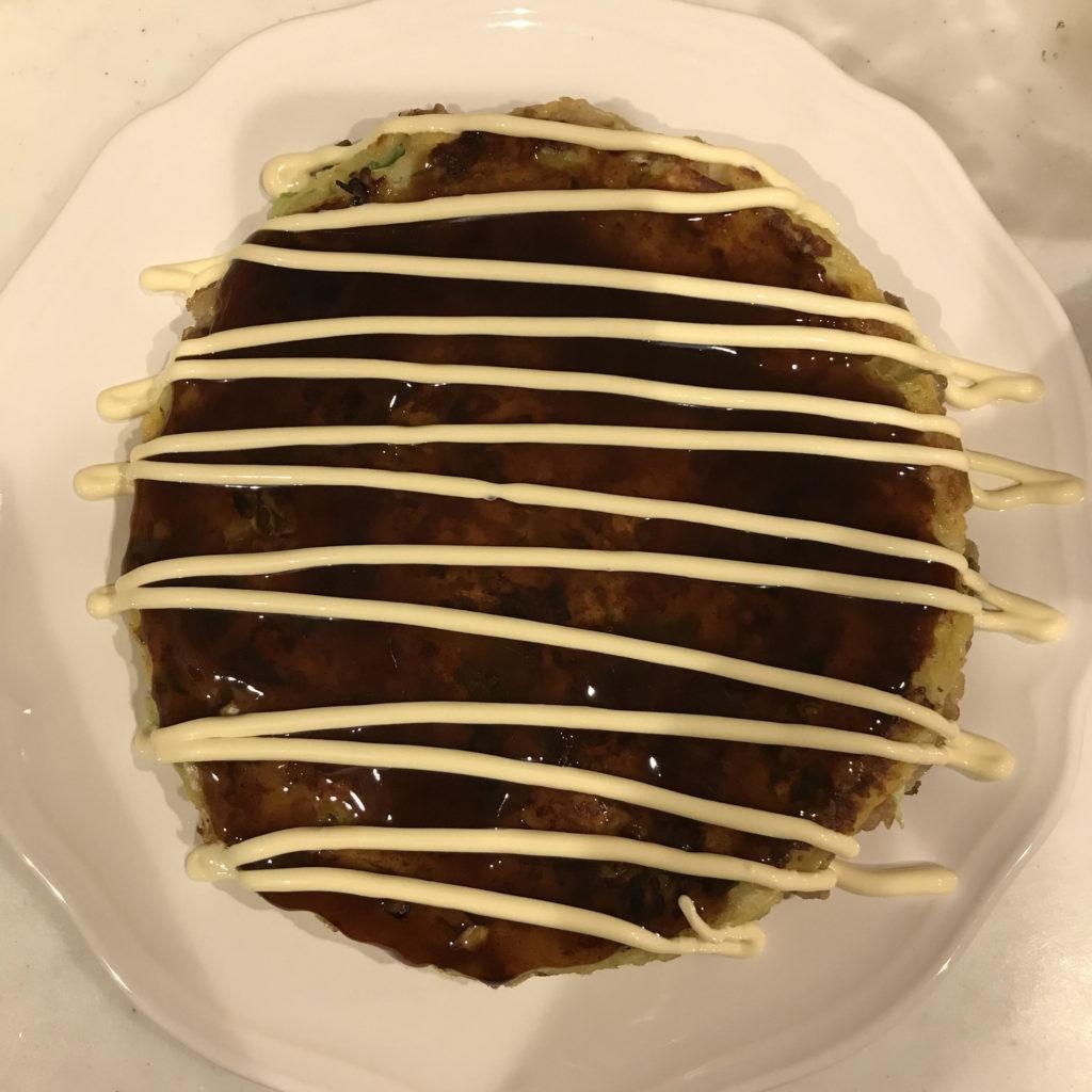 お好み焼きのマヨネーズアート 基本型