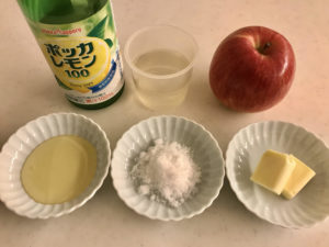煮リンゴの材料