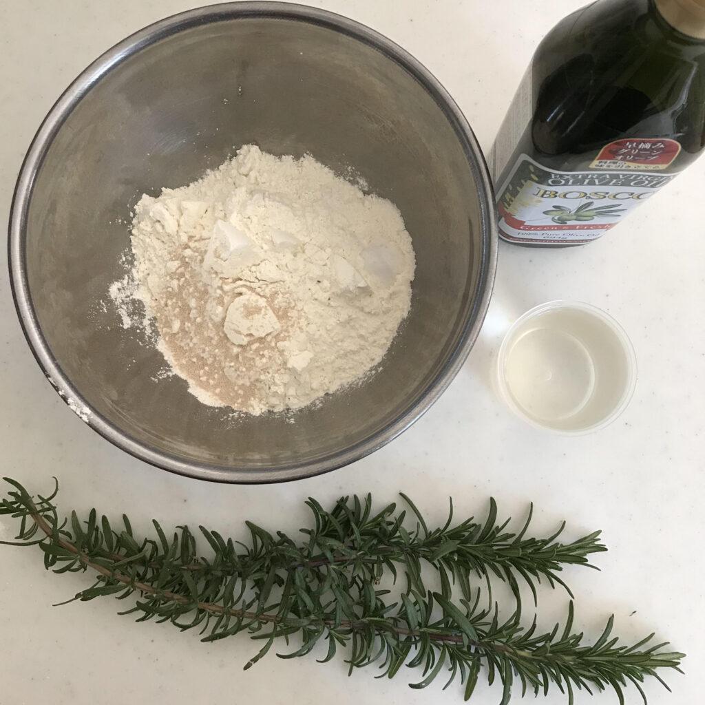 ローズマリーフォカッチャの材料