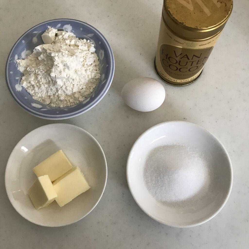 チョコバナナタルトの材料