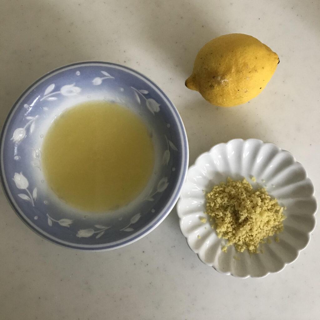 レモンの下準備