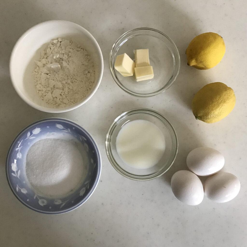 アイシングなしレモンケーキの材料