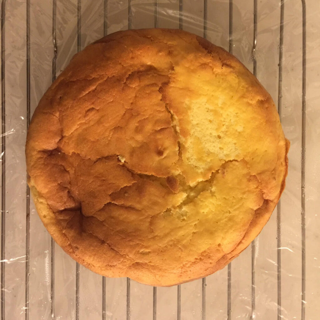 レモンケーキの焼成