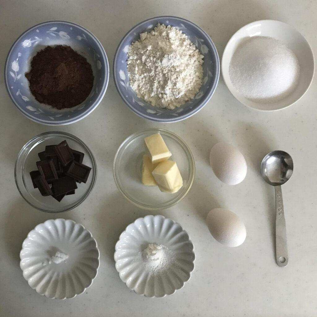 two-bite browniesの材料